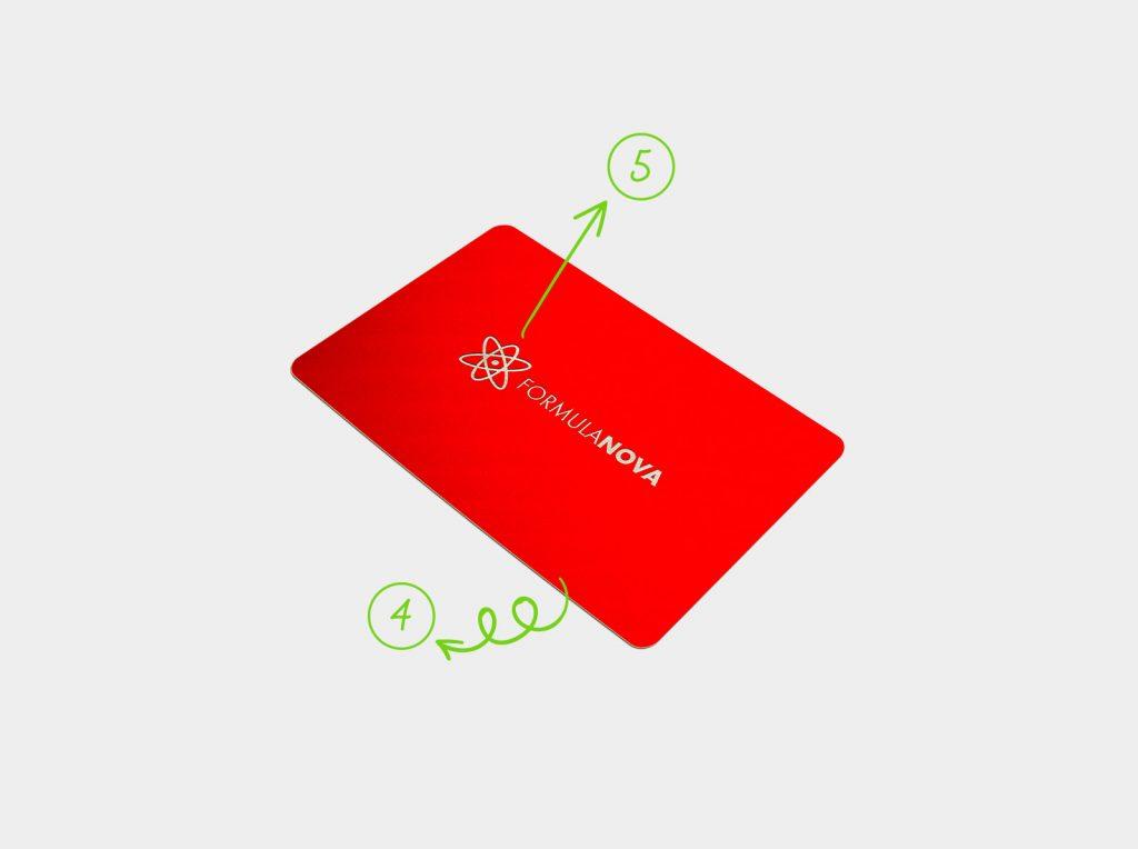 wizytówka plastikowa