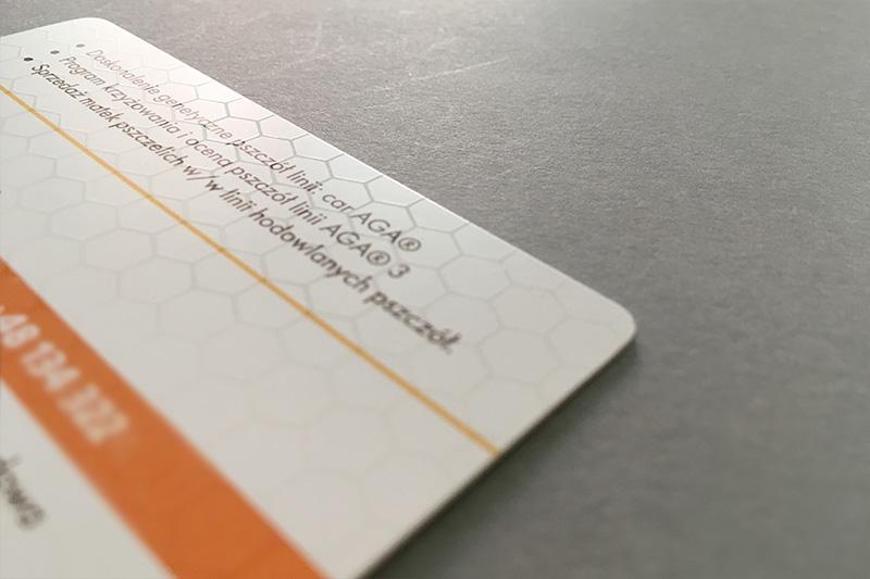 Plastikowe wizytówki z lakierem wybiórczym