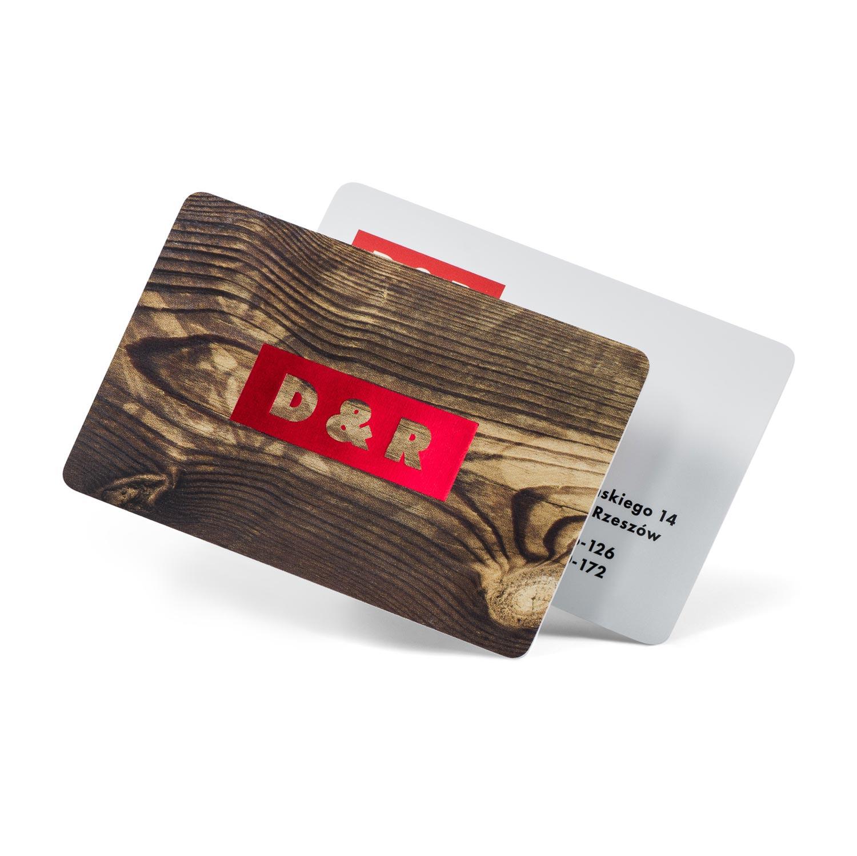 Plastikowe wizytówki hot stamping