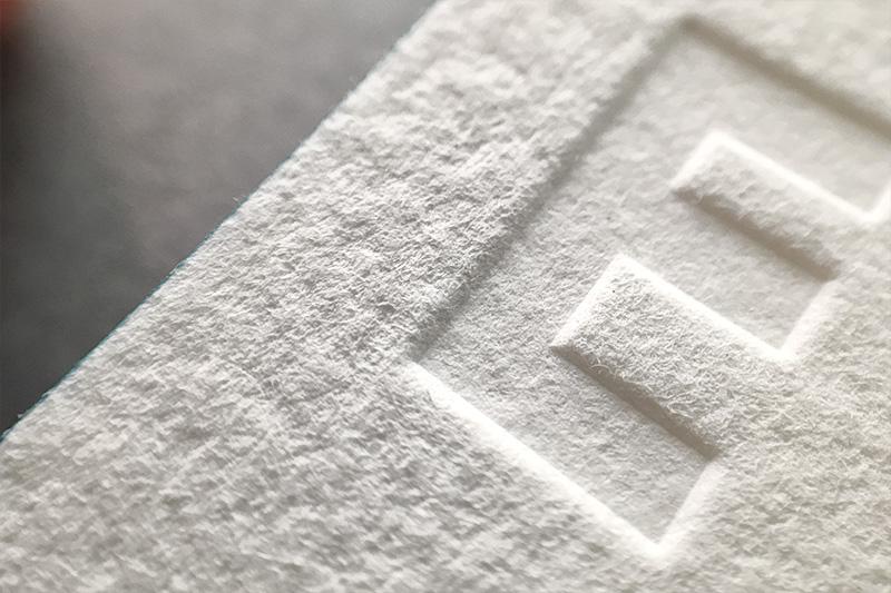 letterpress ślepe tłoczenie