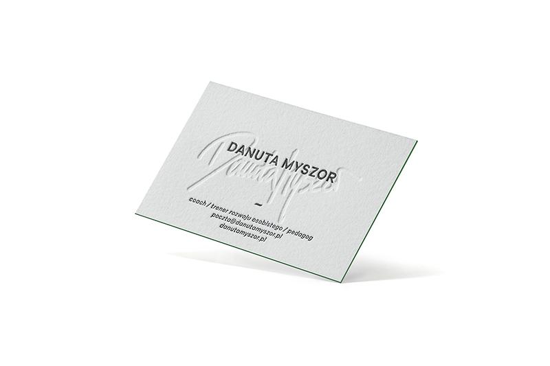 Wizytówka letterpress dla coacha