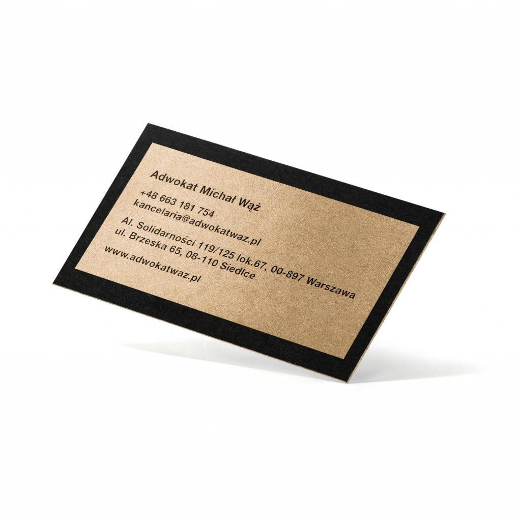 Prestiżowe wizytówki złote i czarne