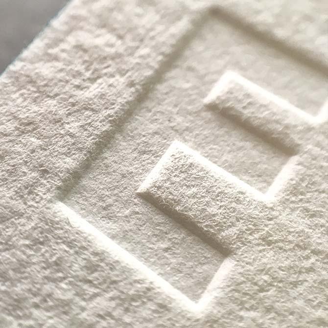 tłoczenie letterpress