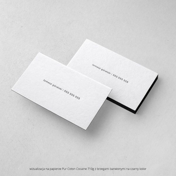 wizytówki letterpress