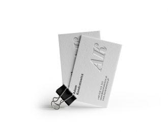 Ślepe Litery – Wizytówki Letterpress