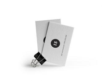 Inicjały – Wizytówki Letterpress