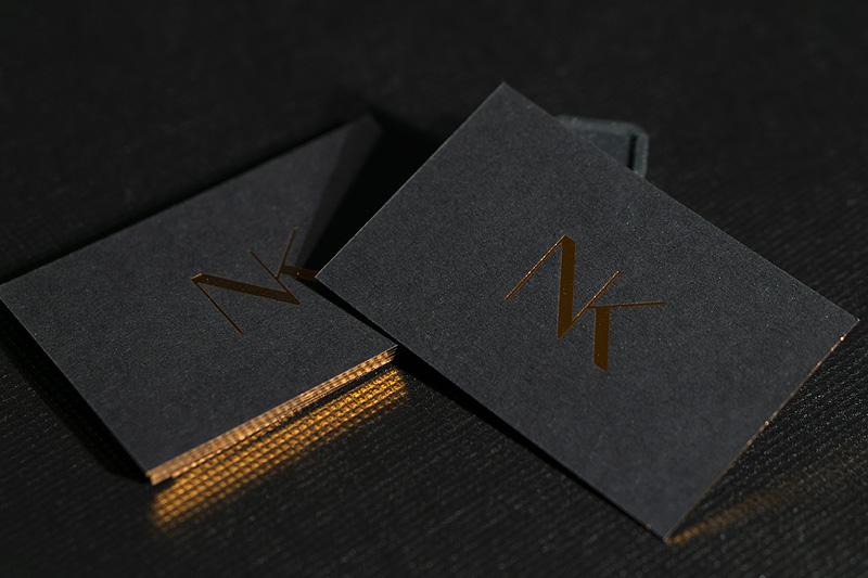 czarny papier miedziana folia hot stamping