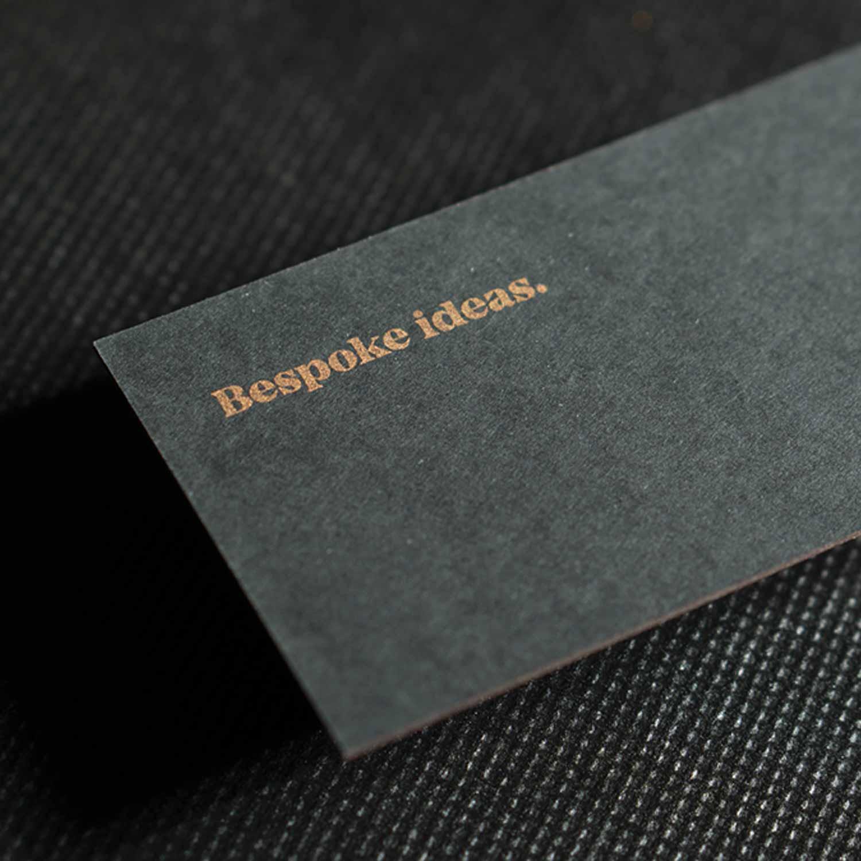wizytówki sitodruk czarny papier